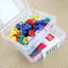 Deli Push Pin, Assorted Color (Pack of 100)