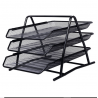 Steel Document Tray Set, 3 Layer, Black (Imported)