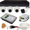 CCTV Complete Package 4-CH CPPlus Brand DVR 4-Pcs Camera